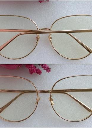 Новые стильные очки бабочки для имиджа, золотистые