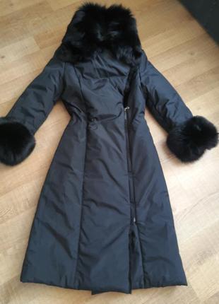 Пальто с мехом песца dolce&gabbana