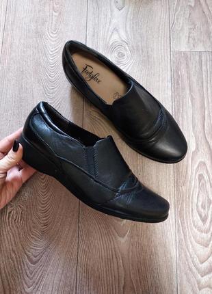 Кожаные туфли ботинки на широкую ногу или высокий подъем