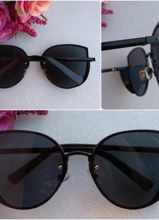 Новые крутые очки бабочки с боковой защитой, черные