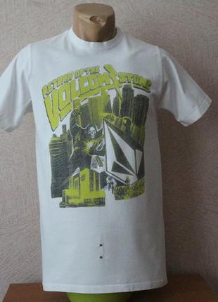 Volcom-,белая футболка с рисунком