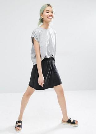 Обнова! юбка на манжете черная кежуал качество