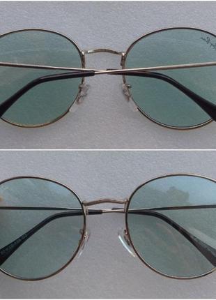 Новые стильные очки раунды, голубые