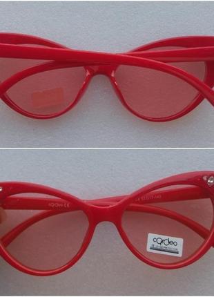 Новые крутые очки лисички, красные
