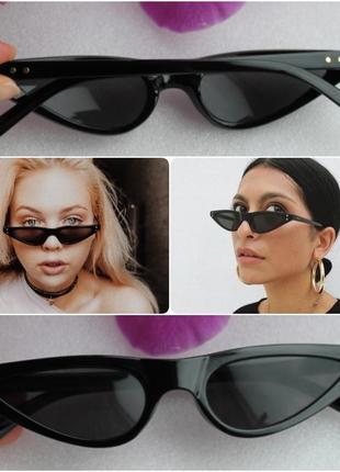 Новые крутые очки ретро лисички, черные