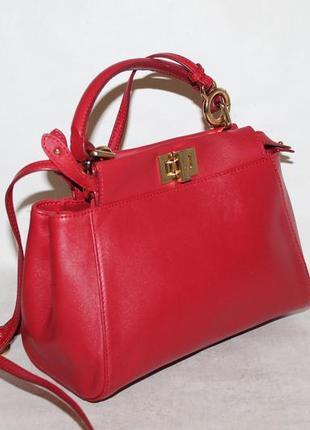 Оригинальная кожаная сумка fendi peekaboo mini