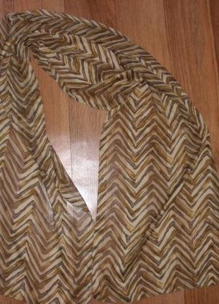 Интересный шарф полиэстер \160*38 см