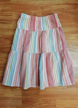 Детская натуральная легкая милая летняя юбка - рост 116 см