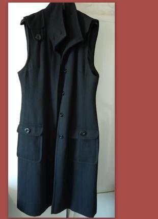 Стильное пальто без рукавов р.м/l papaya англия