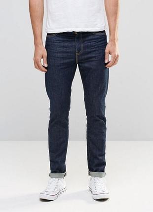 Зауженные джинсы цвета индиго