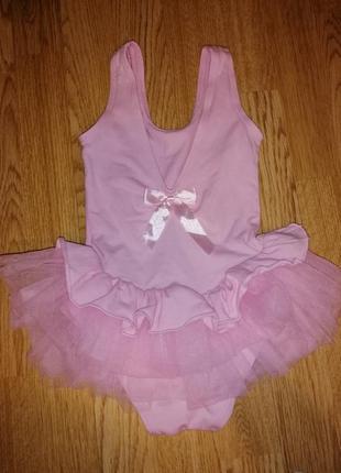 Бодик на девочку платье балерини с фатином боди
