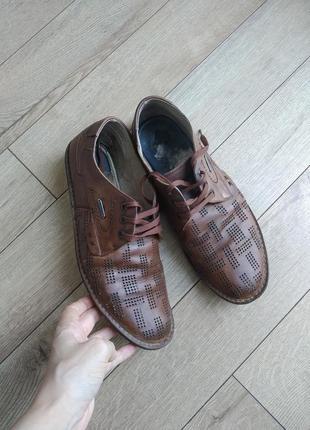 Летние туфли натуральная кожа, символическая цена!!!