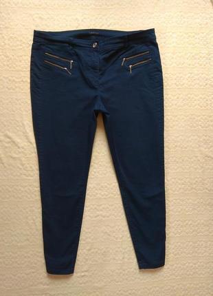 Стильные коттоновые штаны джинсы скинни canda, 18 размер