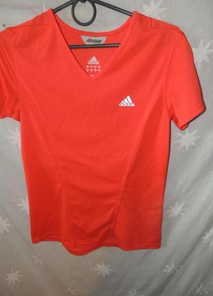 Оранжевая футболка adidas formotion climacool s.