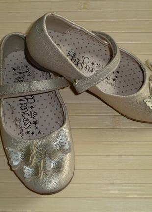 Нарядные туфли с бабочками george , р 29, стелька 18,5 см в