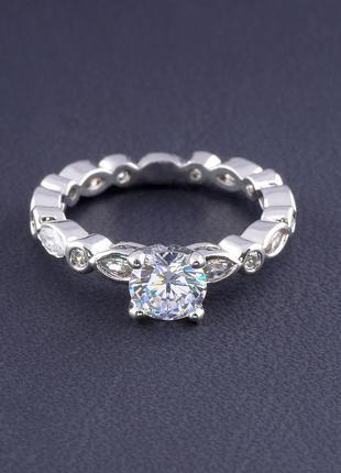 Кольцо 'big dipper' фианит (родий) 0559390