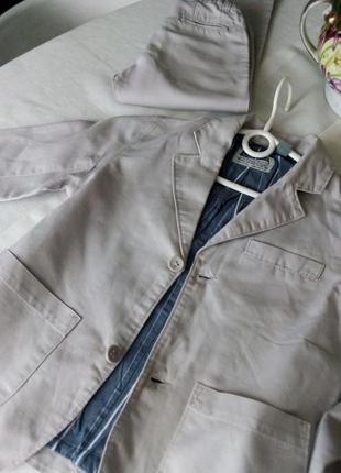 Стильний лляний костюм піджак штани zara