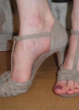 Шикарные туфли alesya мягкая кожа замша 37 размер высокий каблук