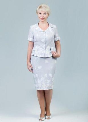 Женский летний костюм из натуральной ткани р.56, 50