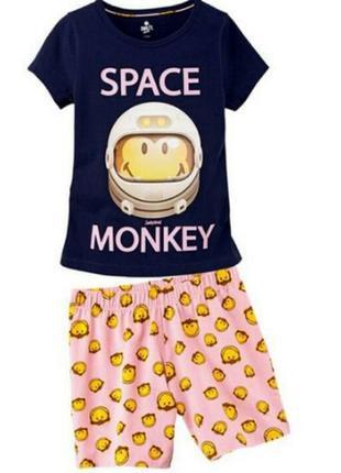 Хлопковый комплект или пижама для девочки 7-8лет