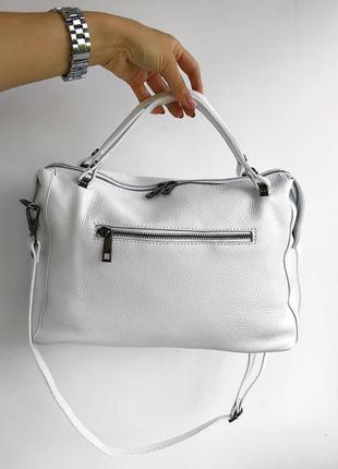 Натуральная итальянская кожаная сумка vera pelle, сумка кожа италия