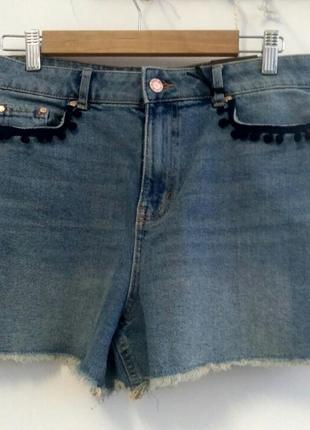 Крутые джинсовые шорты размер l 40