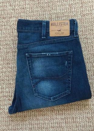Hollister taper fit рваные джинсы оригинал (w36 l32) сост.идеал
