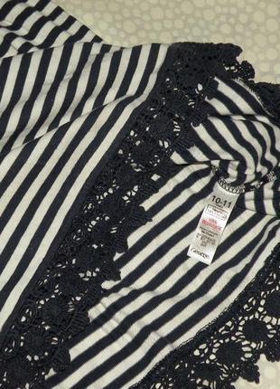 Платье в полоску 10-11 лет2 фото