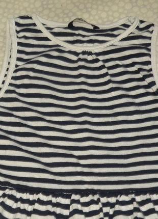 Платье в полоску 10-11 лет3 фото
