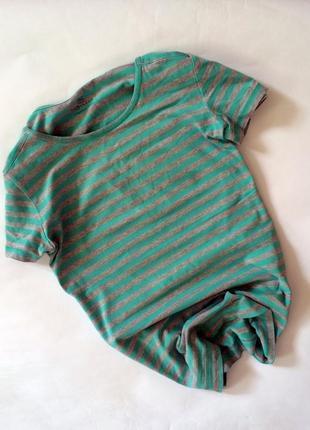 Крутая актуальная полосатая футболка tu в полоску хлопок вискоза хлопковая