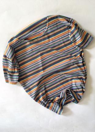 Крутая актуальная полосатая футболка h&m в полоску