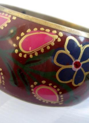 Браслет, латунь, ручная роспись