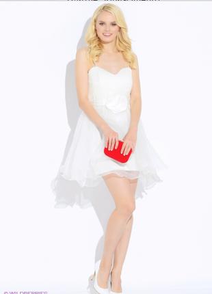 Бирка воздушное фатиновое нарядное выпускное пышное платье rinascimento m-l