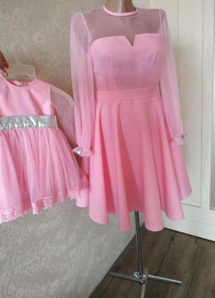 aa9dedd091402a Одинаковые платья для мамы и дочки (в одном стиле) 2019 - купить ...