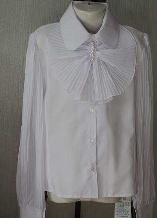 Реально классная блузка с длинным рукавом и откидным верхом на пуговицах