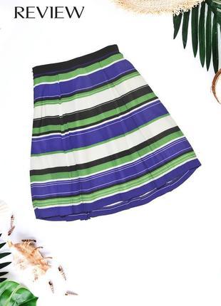 Плиссированная юбка в полоску review