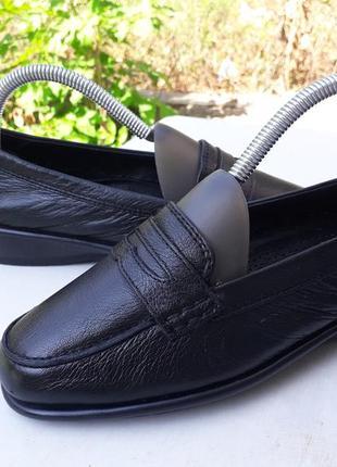 37,5 р. кожаные мягкие туфли лоферы