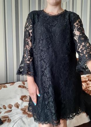 Кружевное платье, маленькое чёрное платье л-хл
