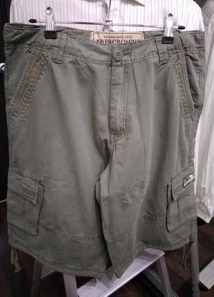 Брендовые шорты из хлопка с карманами military style