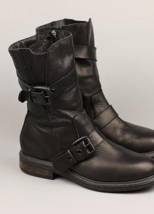 Италия! фирменные кожаные сапоги/ботинки chiarini bologna