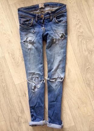 Рваные джинсы river island с дырками
