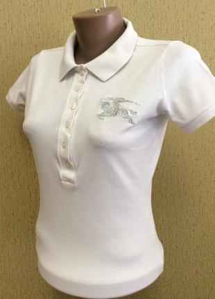 Женская футболка поло burberry 100% оригинал код размер xs-s