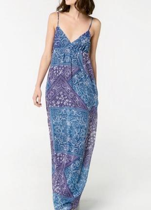 Платье-сарафан с открытой спиной mango casual, s