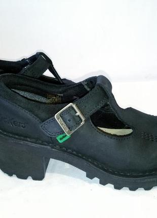Кожаные ботинки,туфли kickers (кикерс)