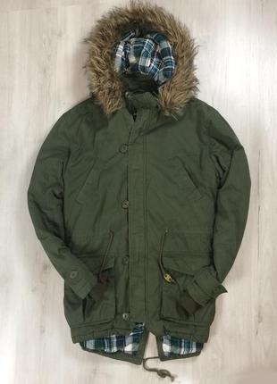 Парка george джордж куртка оливковая хаки