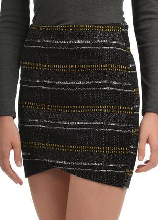 Классная юбка с узором на запах