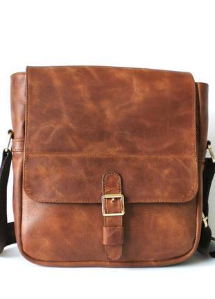 Мужская стильная сумка из кожи