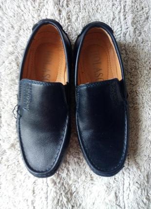 Туфли лоферы мокасины темно-синие 29рр