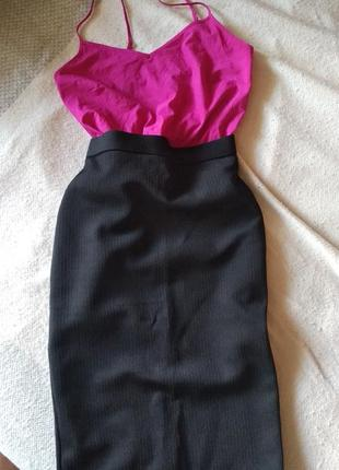 Юбка-карандаш черного цвета