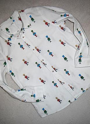 Рубашка  m&s  на 5-6 лет.
